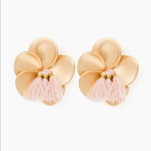 Jewelry - Floral Earrings with Tassel